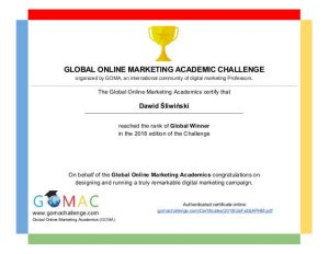 Global Online Marketing Academic Challenge Zwycięzcy