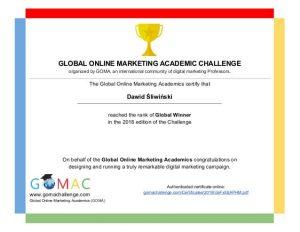 Global Online Marketing Academic Challenge Zwycięzcy